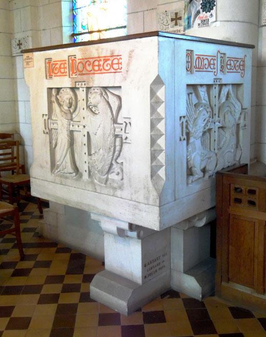 Chaire dans l'église de Vaire-sous-Corbie- Photo: Rémy Godbert