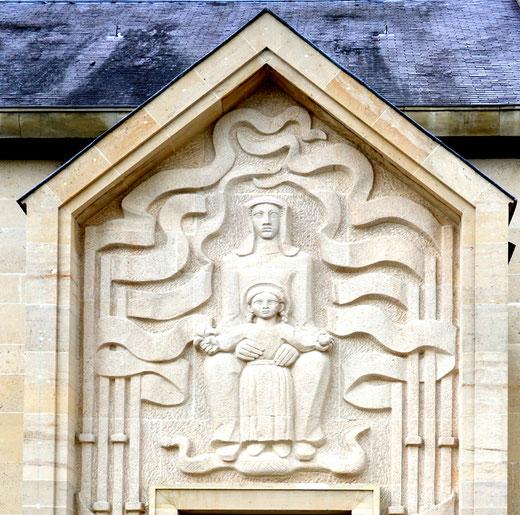Sainte Anne et Marie sculptées par Louis Leygue- Eglise d'Oresmaux