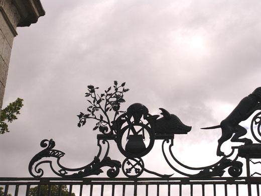 Détail des grilles du château de Bertangles
