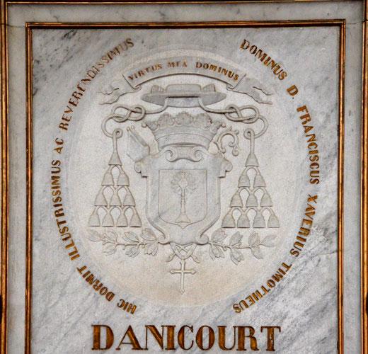 Le blason de Mgr Danicourt