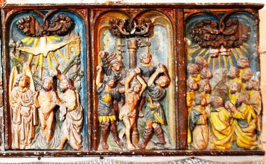 Le baptême de Jésus, la Flagellation, la Pentecôte