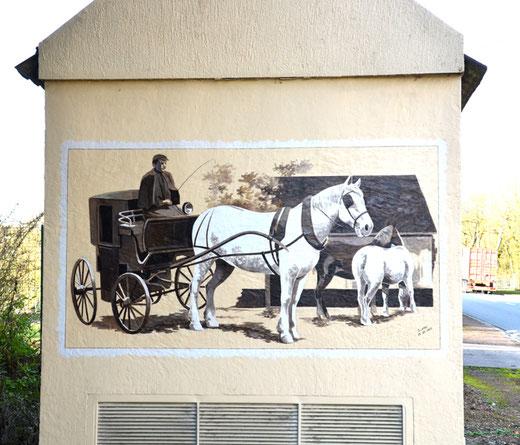 Route nationale à Bernay en Ponthieu