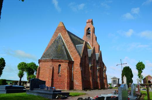 Chapelle Saint-Aignan du cimetière de Grivesnes