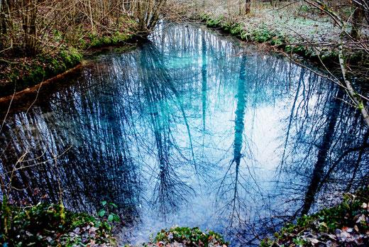 Les fontaines bleues de Mézerolles