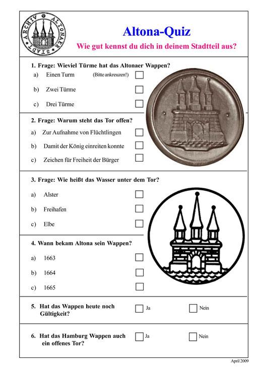 Fragebogen für die Klassen 1 - 4