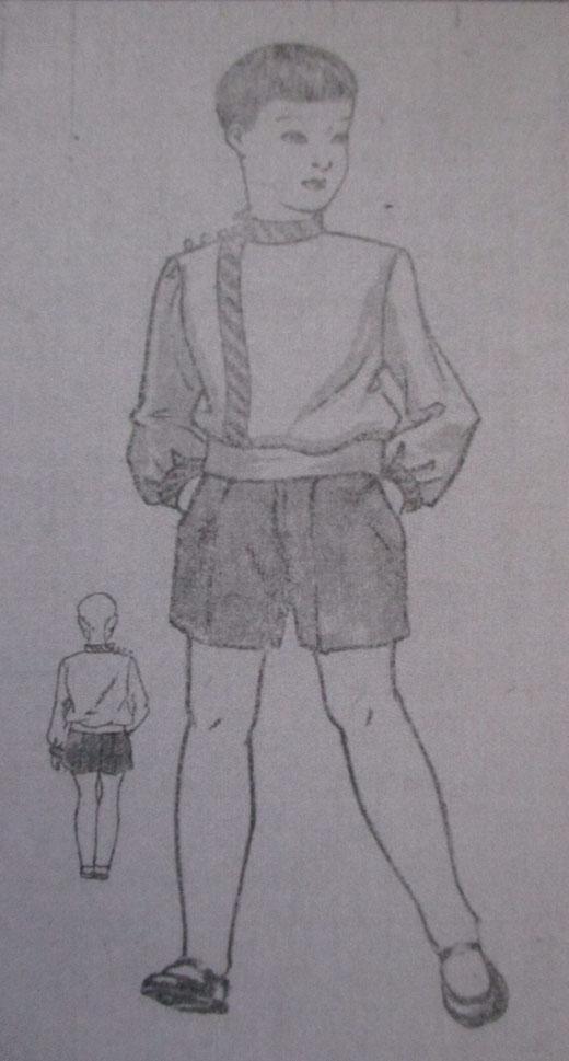 【写真7】ルパシカ型ブラウス(『通学服全集』1934年)