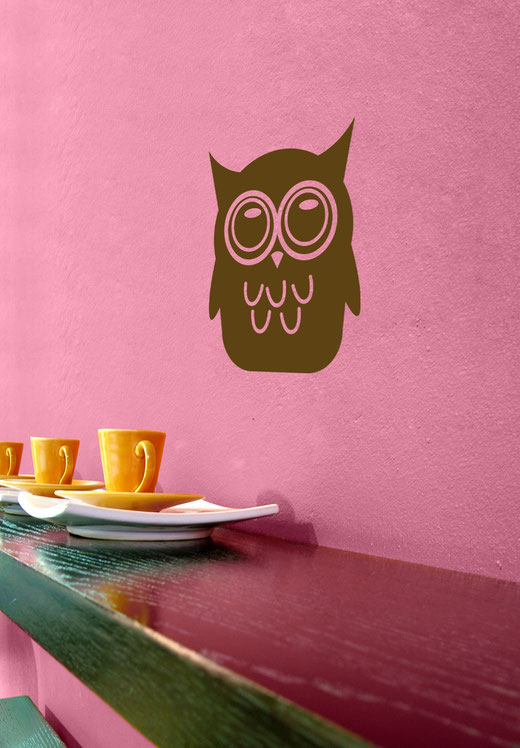 Easy to stick on Halloween themed cute Owl is available from www.wallartcompany.co.uk
