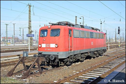115 198-4 sonnt sich am 7. Februar 2015 am Leipziger Hbf.