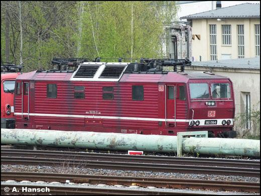 180 016-8 steht am 28. April 2013 z-gestellt im AW Chemnitz