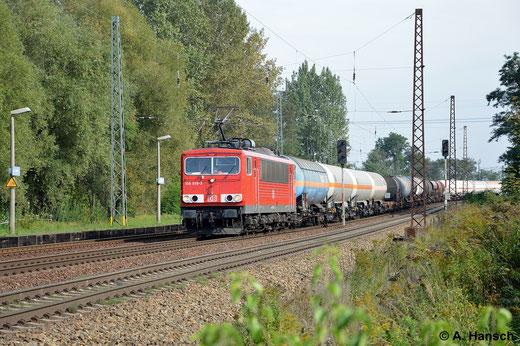 Am 18. September 2014 sichtete ich die Maschine in Leipzig-Thekla. Inzwischen trägt sie die rechteckigen Hochleistungspuffer