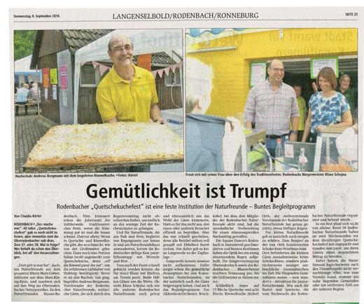 Hanauer Anzeiger 8.9.2016