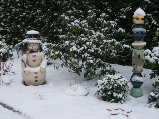 Ist meine keramik frostsicher creativton gartenkeramik for Winter gartendeko