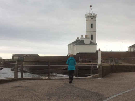 That's me in front of Arbroath Signal Tower Museum