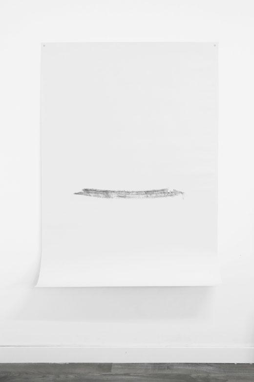 [ Feather ] Lápiz carboncillo sobre papel. 145 x 105 cm.
