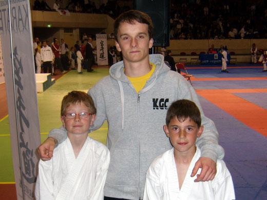 Raphael et Romain en compagnie de Maxime.