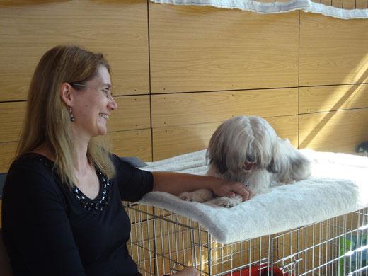 Fiona mit Frauchen Anja