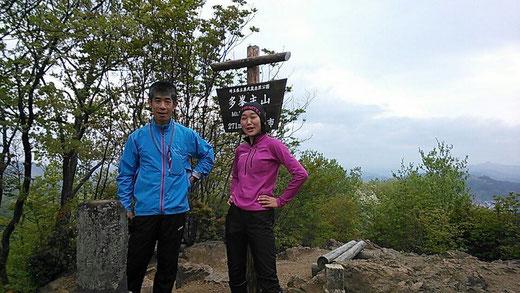 多峯主山(とうのすやま)標高271mにて。飯島さんと