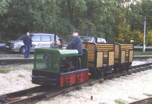 Spoorijzer 187 van Werners Gartenbahn is van het type RT10 en heeft een watergekoelde motor.