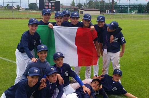 La squadra Italy (Emilia Romagna) dopo la vittoria con la Francia
