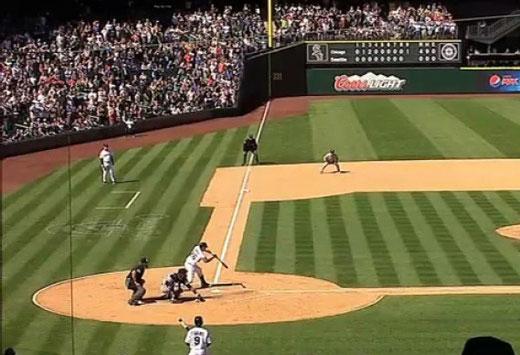 L'ultimo strike (check swing) chiamato dall'arbitro su Brendan Ryan che ha consegnato Philip Humber alla storia (foto tratta da MLB.TV - clicca sulla foto per il filmato)