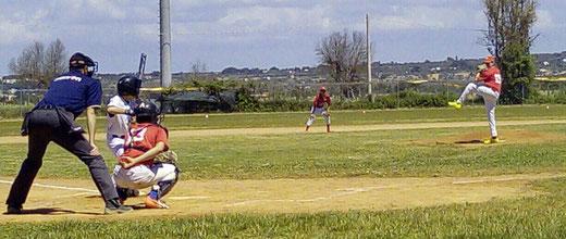 Una fase della partita Under 15 tra gli Angels contro i Foggiani del Fovea Embers