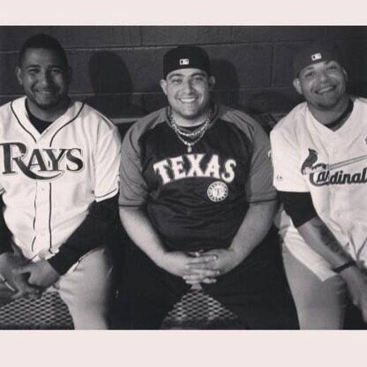 I tre fratelli Molina. Da sx Jose, Bengie, Yadier