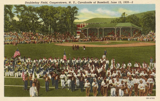 UniversalImagesGroup / Getty Images Baseball Game at Doubleday Field. 1939, Cooperstown, N.Y.
