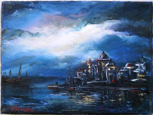 Milakovic BosiljKa - Venezia Olio, Tela, 24x18cm