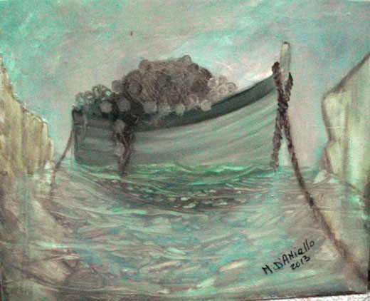 D'Aniello Mario  – L'abbandono - olio tela - 50 x 40