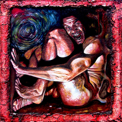 Scannella Alessandro (Italia) - La follia - olio su tela - 120 X 120