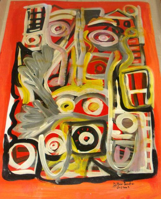 Davide Bini - Donna in cucina - acquerello su carta - 50 x 70