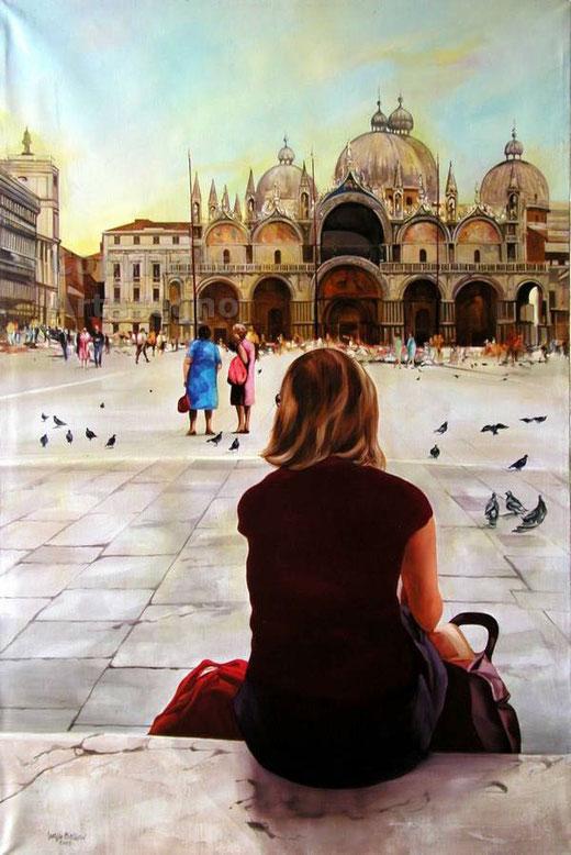 Giorgio Balboni - Venezia - olio su tela - 80 x 120