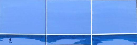 Hodson John - Promenade - acrilico su tela - 40 x 120 (trittico)