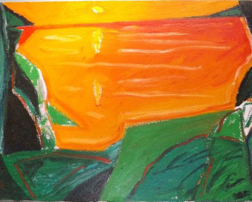 Togo (Italia) - La baia di Acqualadroni - olio su tela - 40 x 30