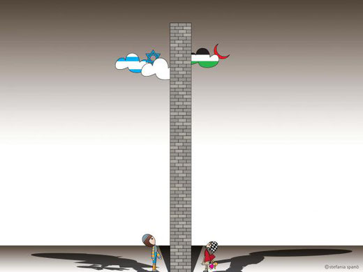 spanò stefania - un muro tra due popoli - stampa su carta fotografica 100 x 70