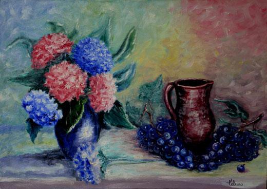 Anna Maria Peluso - Natura morta - olio tela - 70 X 50