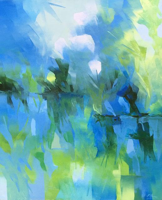 Alex Fumagalli - Impressioni - olio e spatola su tela - 50 x 60
