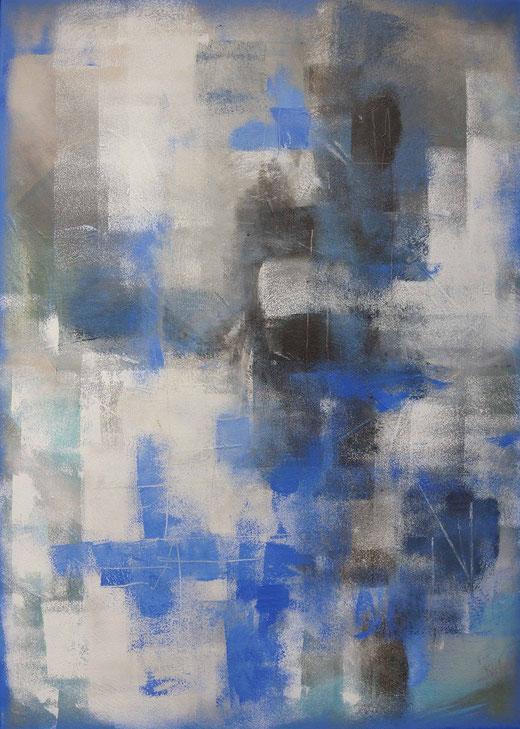 Natalia Kromik - Astratto - olio su tela - 70 x 50