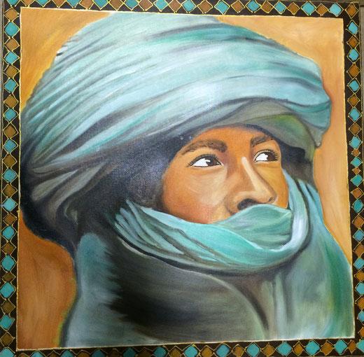 Berardicurti Barbara - Tuareg - olio su tela - 60 x 60