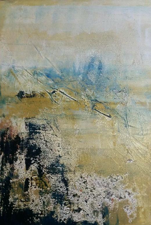 Michaela Nagel- Sensazioni - tecnica mista su tela - 70 x 50