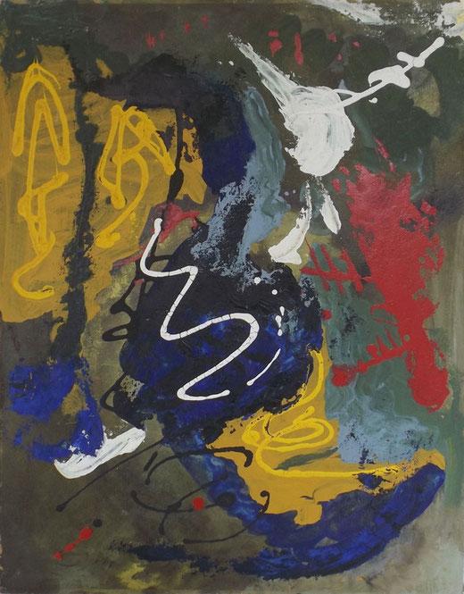 Martin Laber - Astratto - olio su legno - 50 x 63