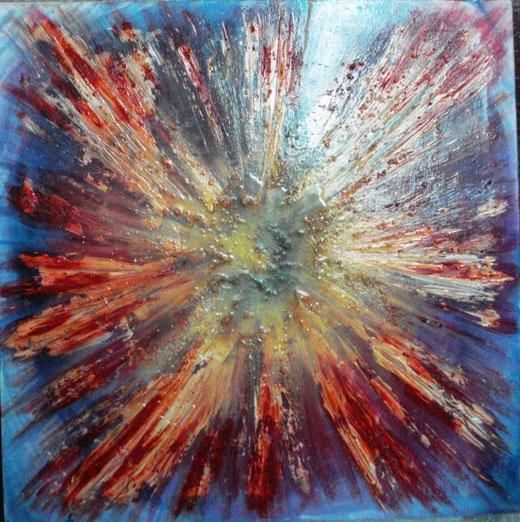 Gatto Anna  – Dal centro - tecnica mista tela - 50 x 50