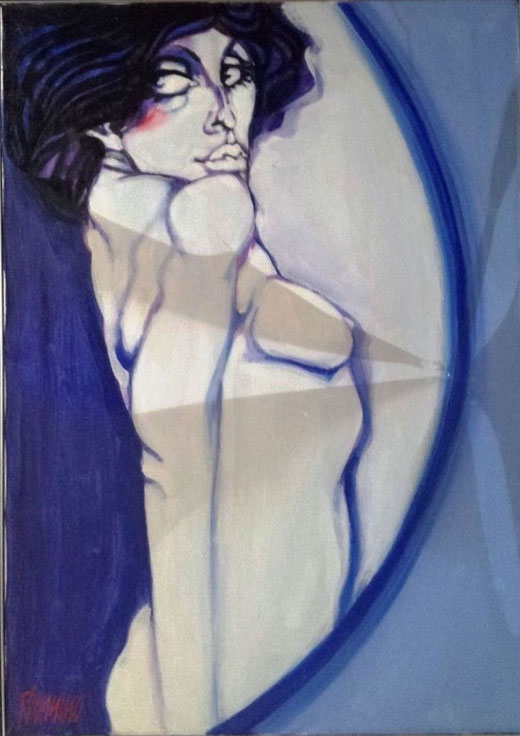Filannino Natale (Italia) - Nudo - olio tela - 50 x 70