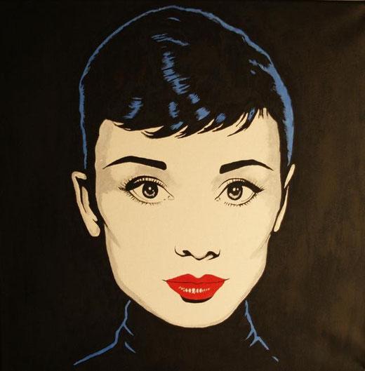 Iglesias Augustin – Audrey Hepburn - acrilico tela - 50 x 50