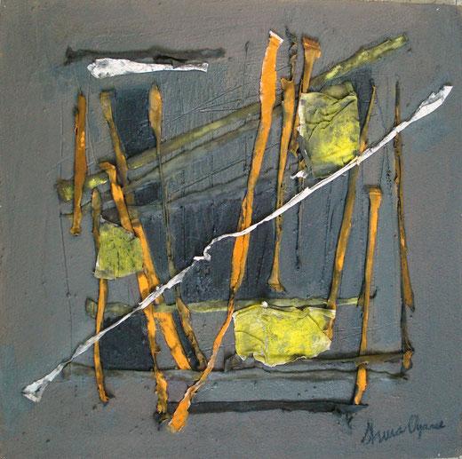 Shura Oyarce Yuzzelli - Verso te - tecnica mista su legno - 50 x 50