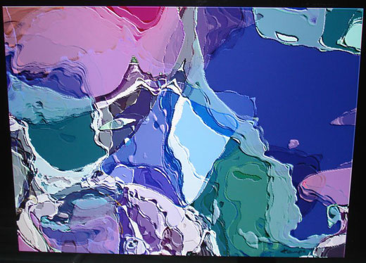 Maurizio Farina - Himalaya - computer graphics su metallo - 70 x 50