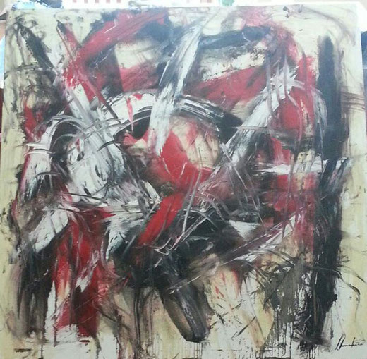 Silvio Formichetti - Astratto - olio tela - 100 x 100