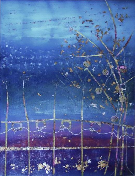 Griffi Roberta - Sera di festa - tecnica mista tela - 50 x 70