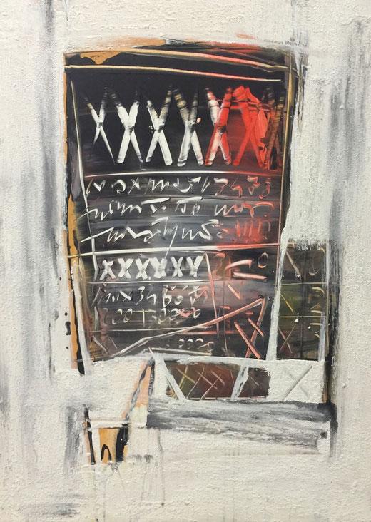 Piero Mai - Astratto - olio su tela - 60 x 80