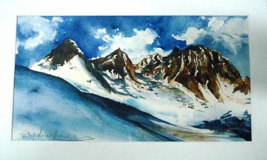 Fracasso Pasqualino – Atmosfere d'alta quota Acquarello, Cartone  Cartoncino, 47x25cm
